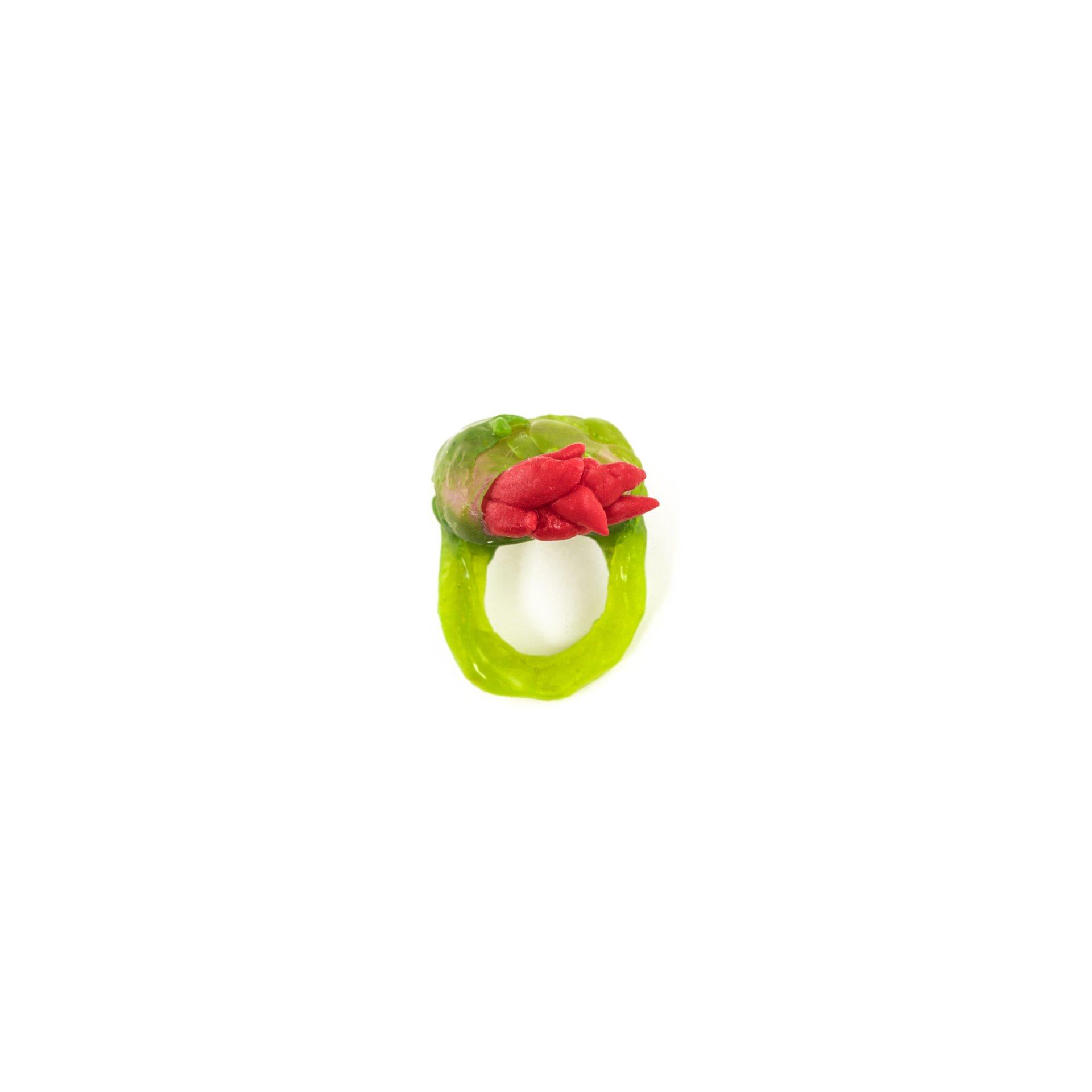 RESIN INTERMEZZO - RED & GREEN RING